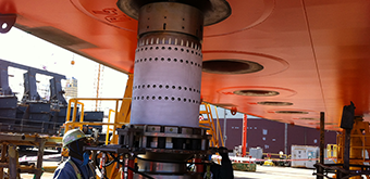 BSC fit up test into bottom of FPSO